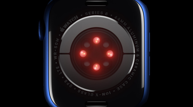 Apple Watch with blood oxygen detection