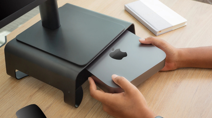 The Curve Riser can store anything, even a Mac mini