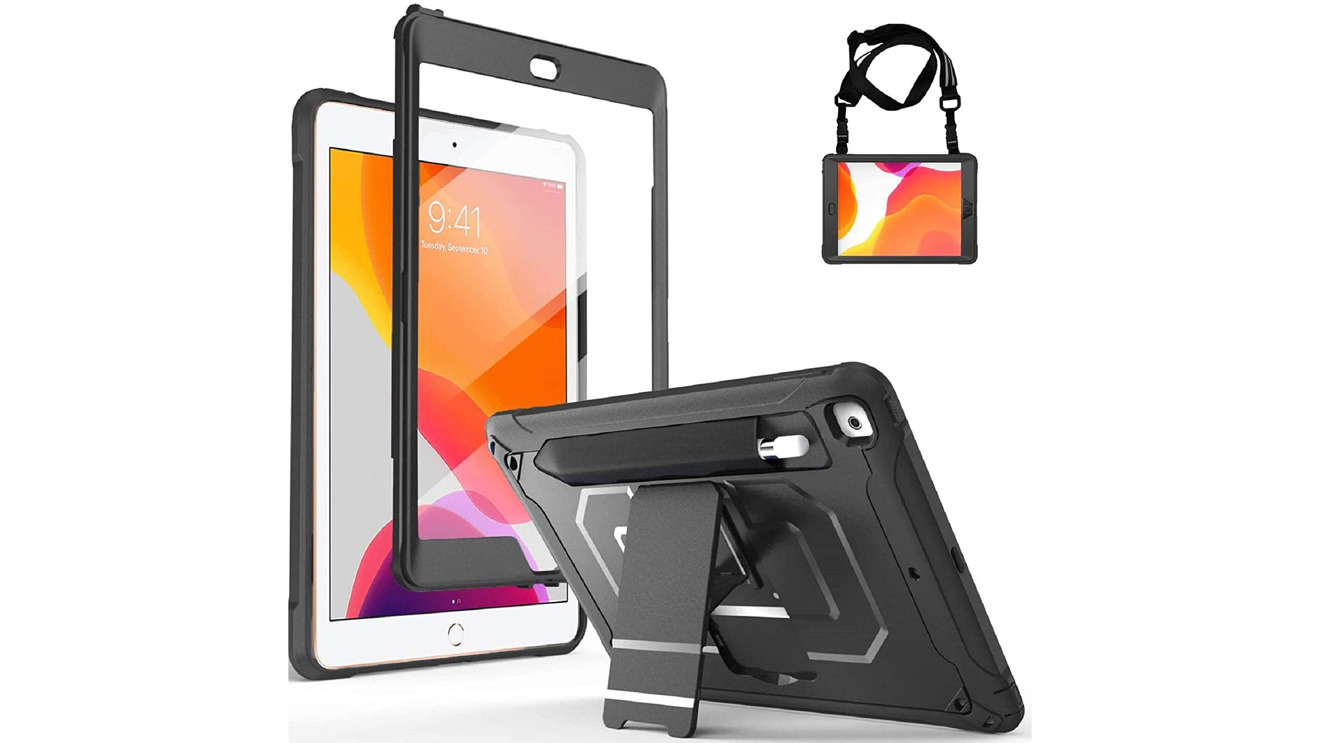 The ProCase iPad 10.2 Case is a rugged case with a built-in screen protector