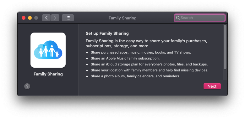 How to set up Family Sharing on a Mac