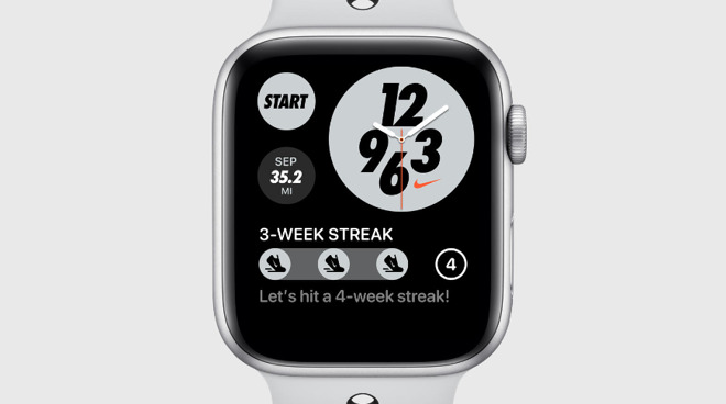 The new exclusive watch face for Nike Apple Watch