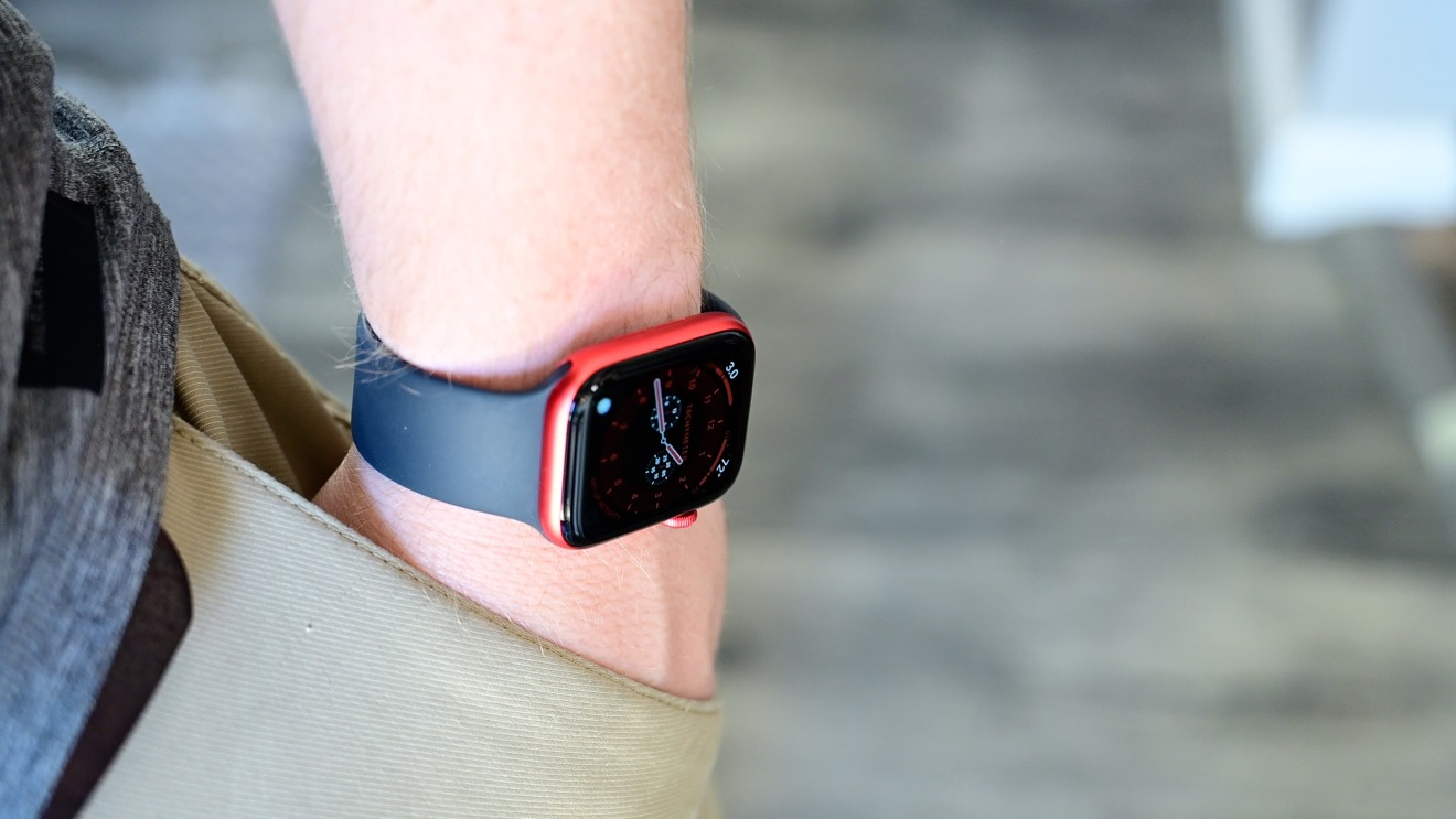 Apple Watch Series 6 (PRODUCT)RED is very bright