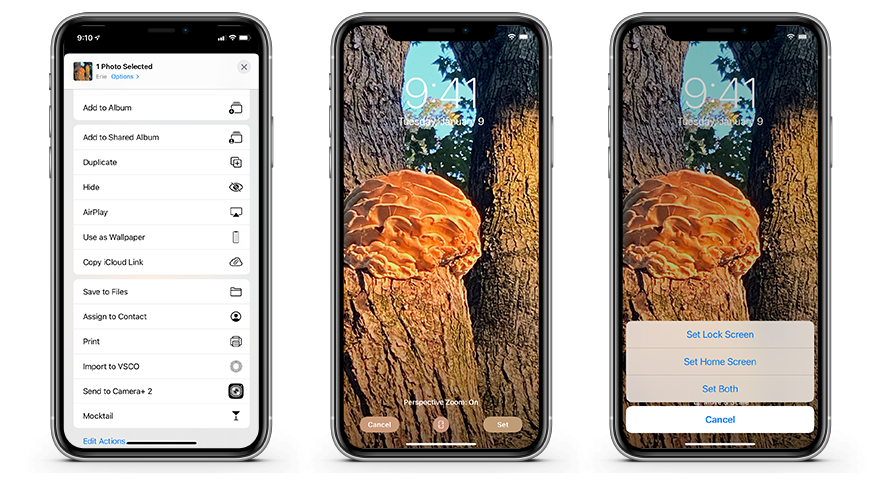 Setting a custom wallpaper in iOS 14