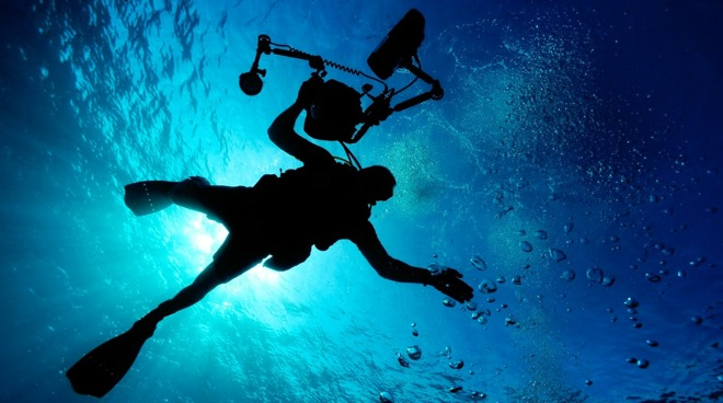 Underwater photography can require a large amount of equipment for a great shot [via Pixabay]