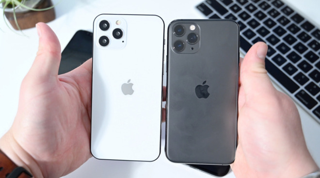 Mock-ups of the iPhone 12 Pro