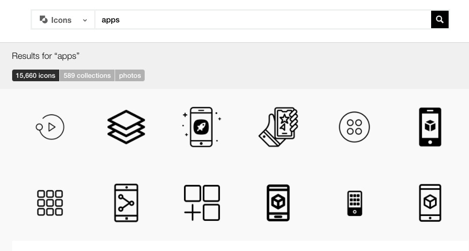 App-style icons available at The Noun Project