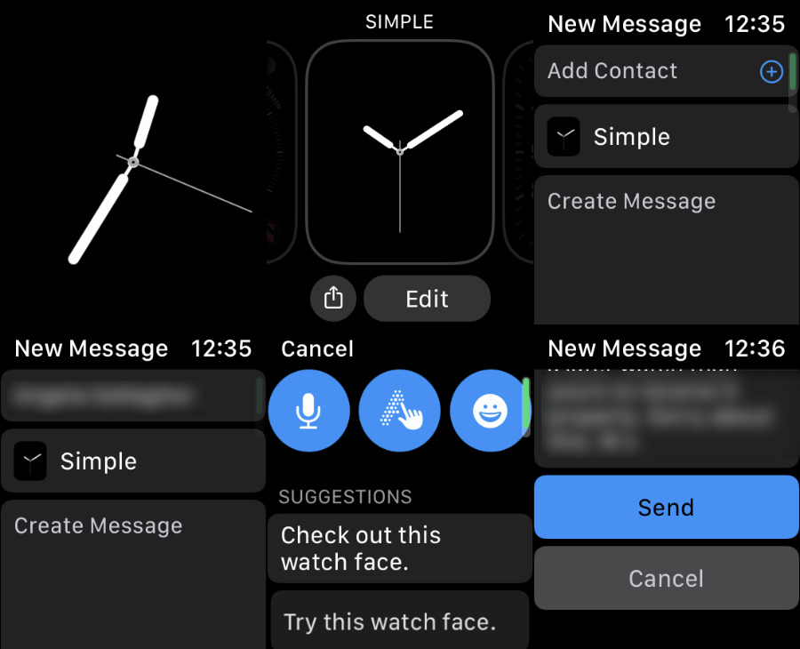 How to share a Watch face directly with one person
