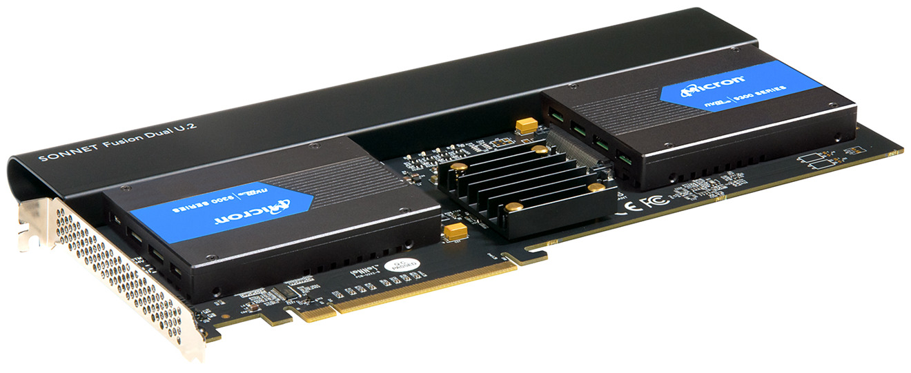 Sonnet unveils new PCIe card for Mac Pro that supports two U.2 SSDs