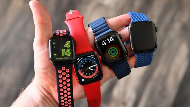 Several Apple Watch Series 6 models
