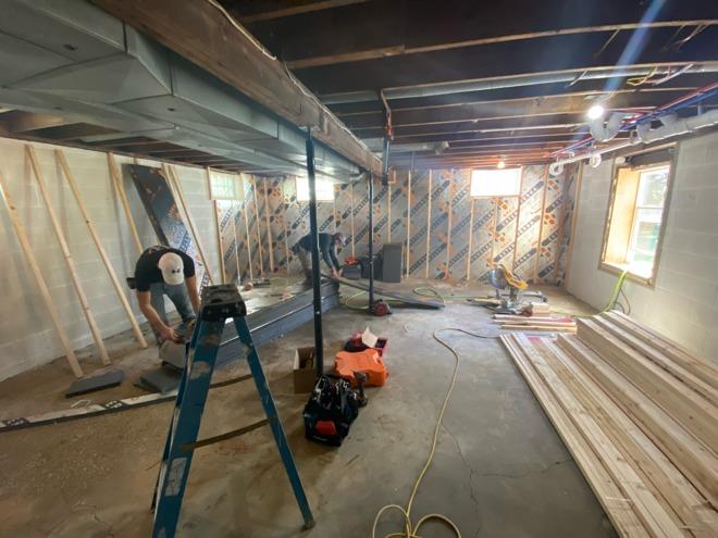 Construction on the new studio