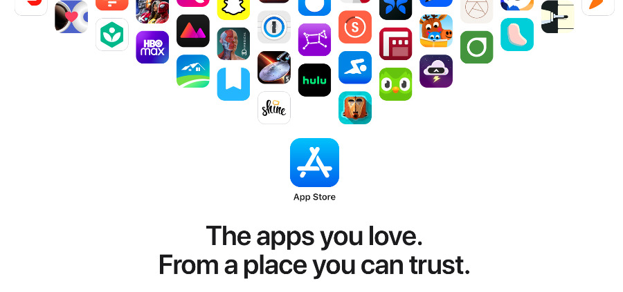 Detail from Apple's newly revamped App Store promotion pages