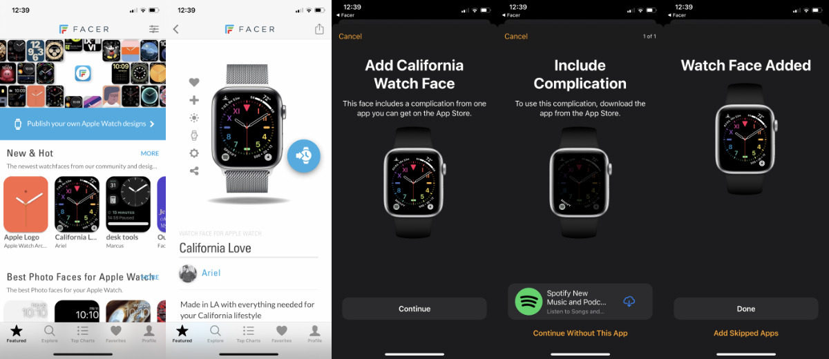 You're going to have to use your iPhone to actually instal the new Watch face