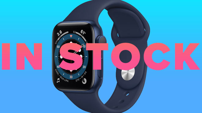 Apple Watch Series 6 on sale with in stock sign