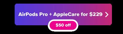 Apple AirPods Pro plus AppleCare button