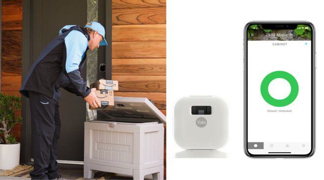 Yale Smart Delivery Box and Smart Cabinet Lock