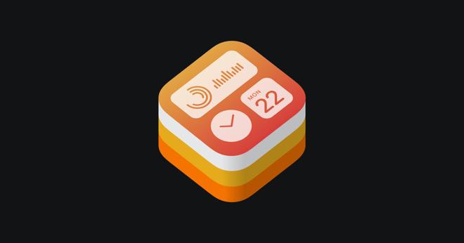 Apple's logo for WidgetKit, the developer resource for making widgets.