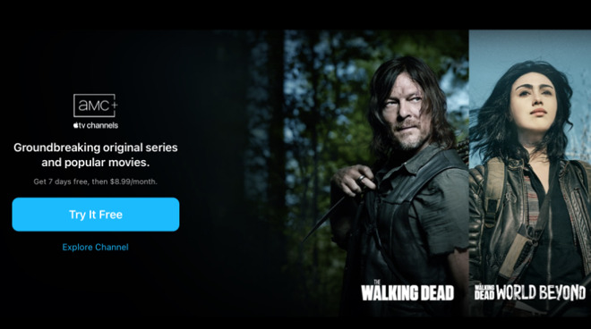 AMC+ now available on Apple TV channels