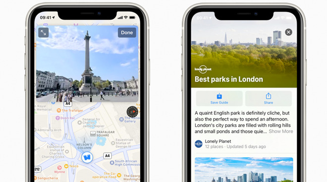 UK and Ireland get new Apple Maps cycling directions, Look Around