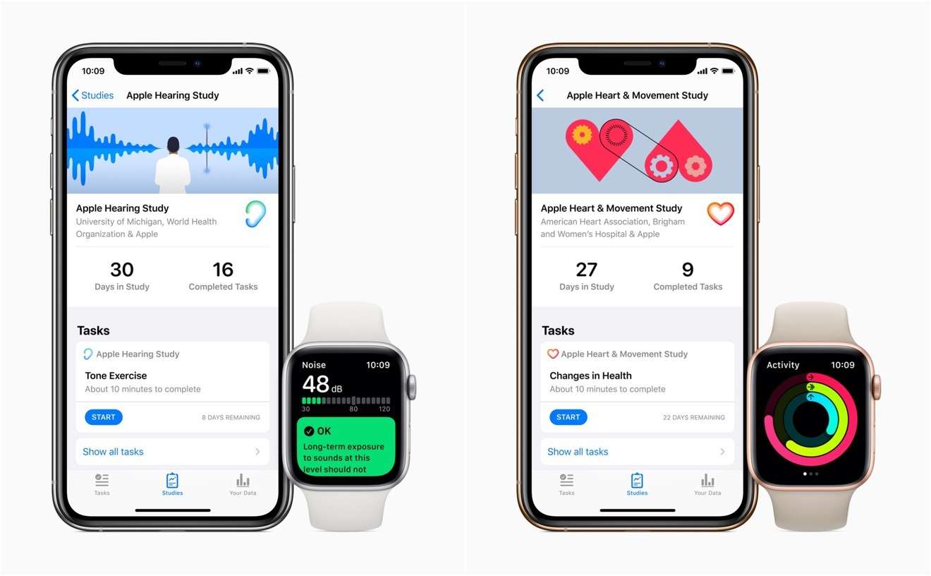 Apple is conducting research with medical providers and universities