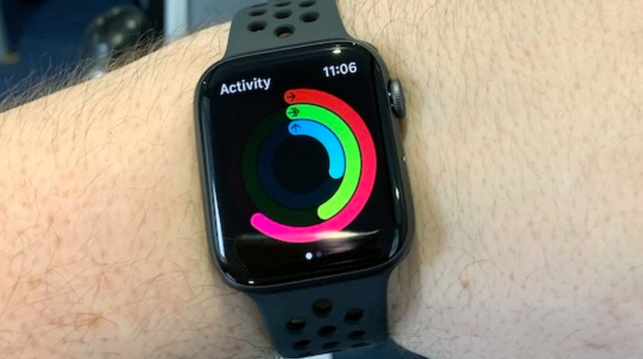 Apple uses concentric rings to display daily activity progress