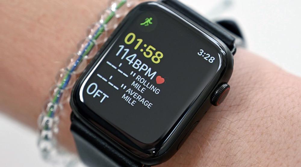 Apple Watch sensor data figures prominently in the app