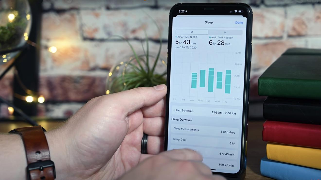 Sleep data in iOS 14