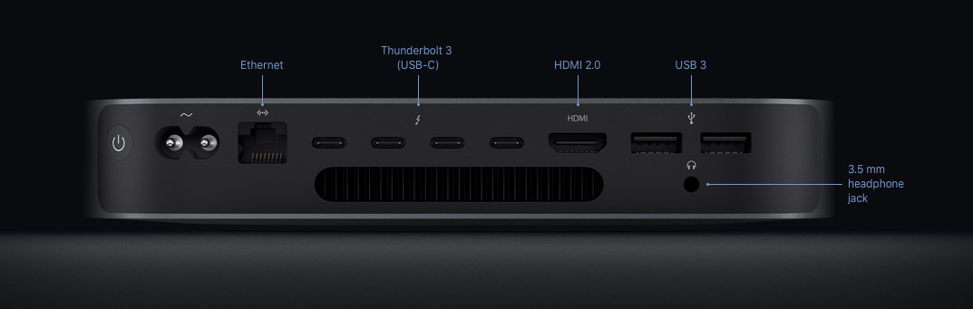 The Mac mini is one of the few Macs sporting a HDMI port.