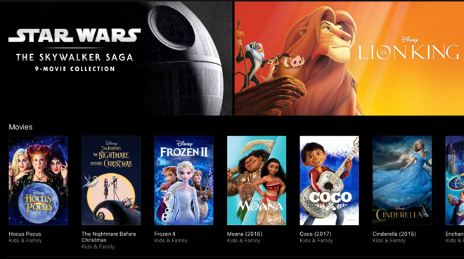 Disney content now available in 4K HDR on iTunes