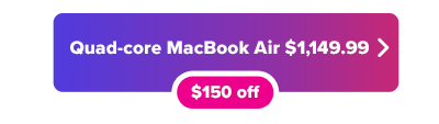 MacBook Air $150 off button