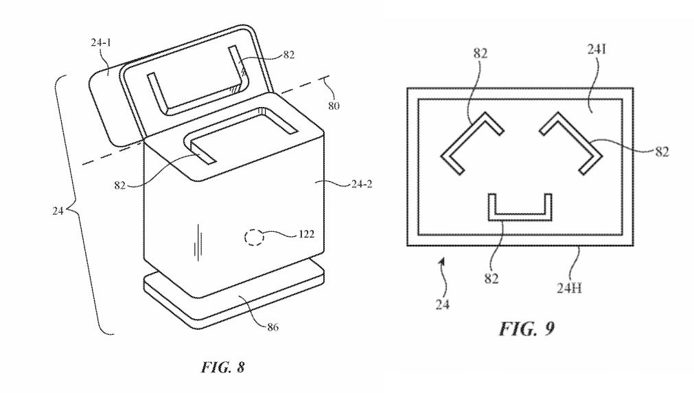 An AirPods-style charging case, according to the patent