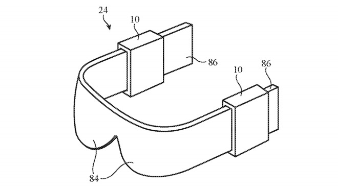 An Apple headset could have spaces to charge the finger devices.