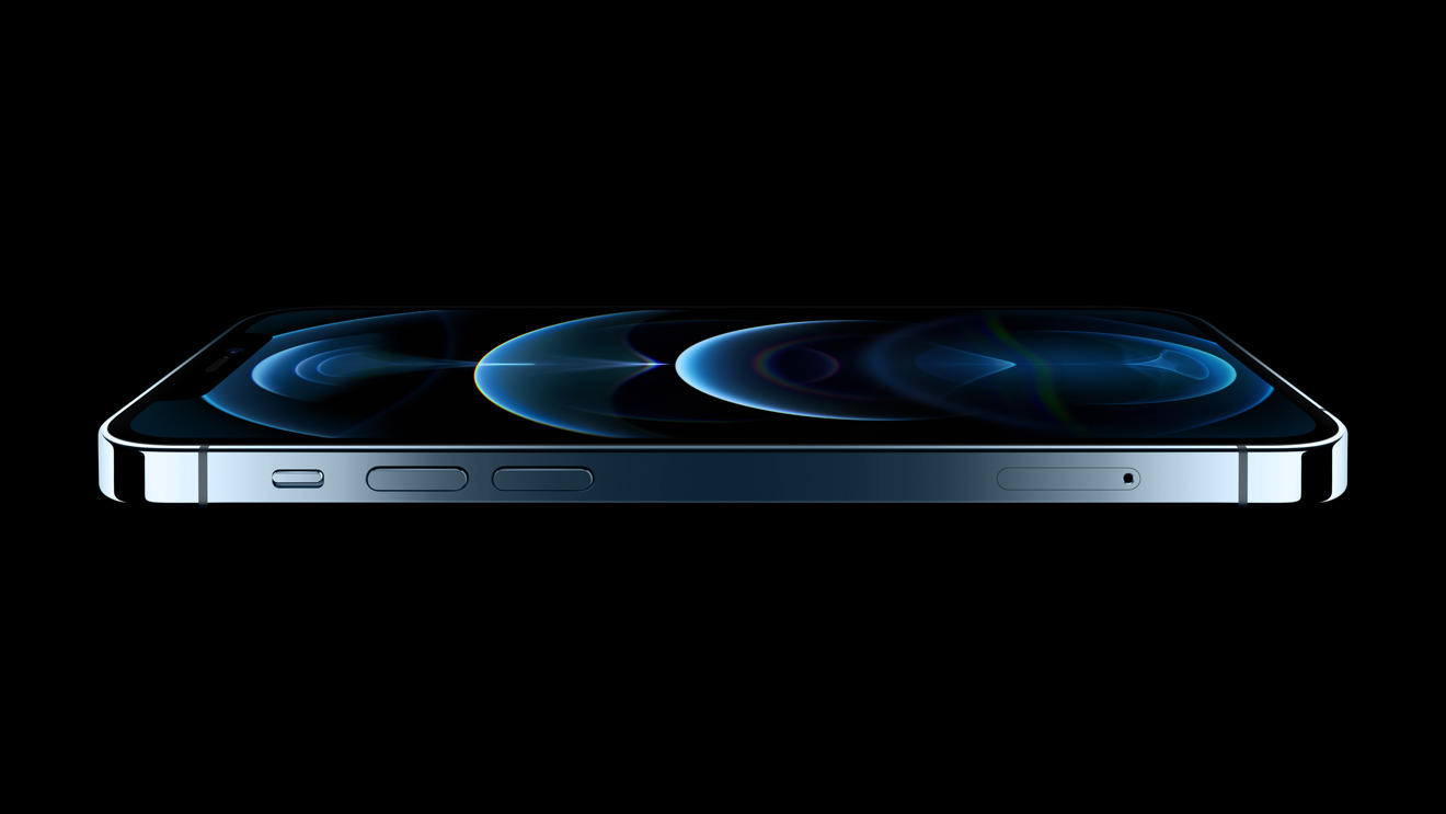 A side view of the iPhone 12 Pro