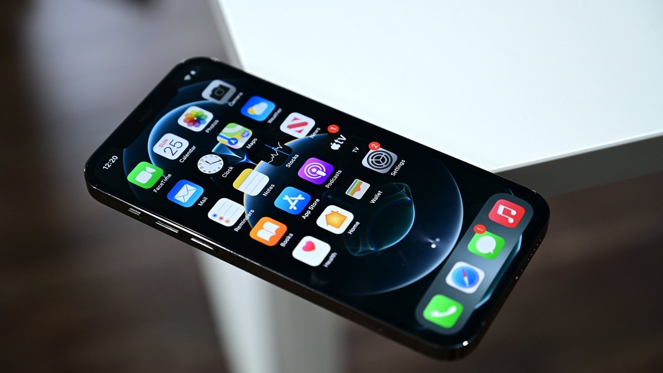 Apple uses a flat and well defined edge as part of its iPhone 12 range design.