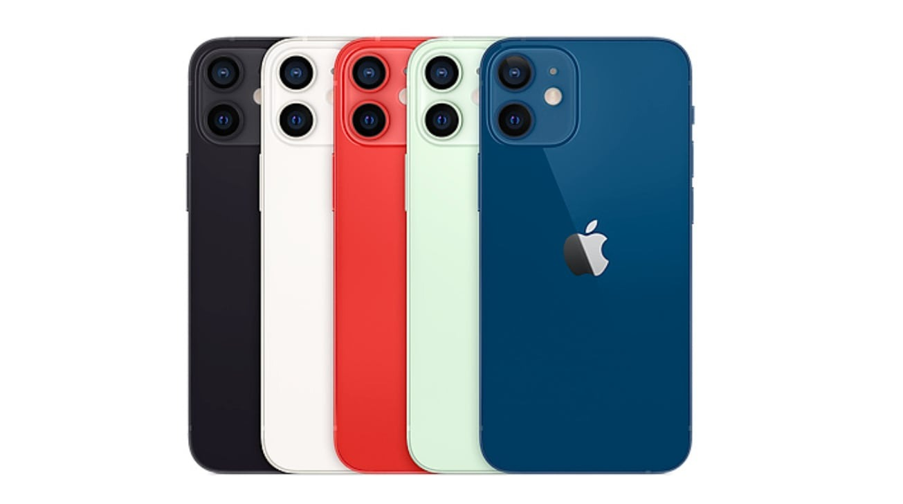 The iPhone 12 mini is available in five colors.