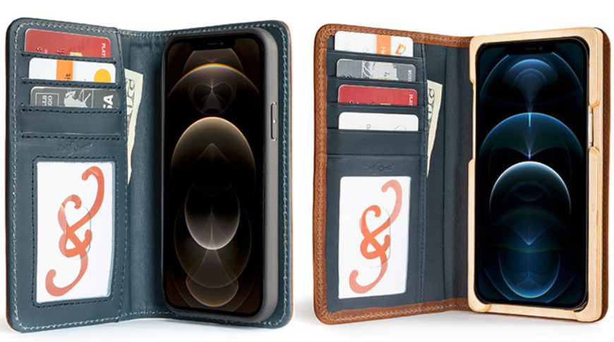 Pad and Quill iPhone 12 cases use genuine leather and wood