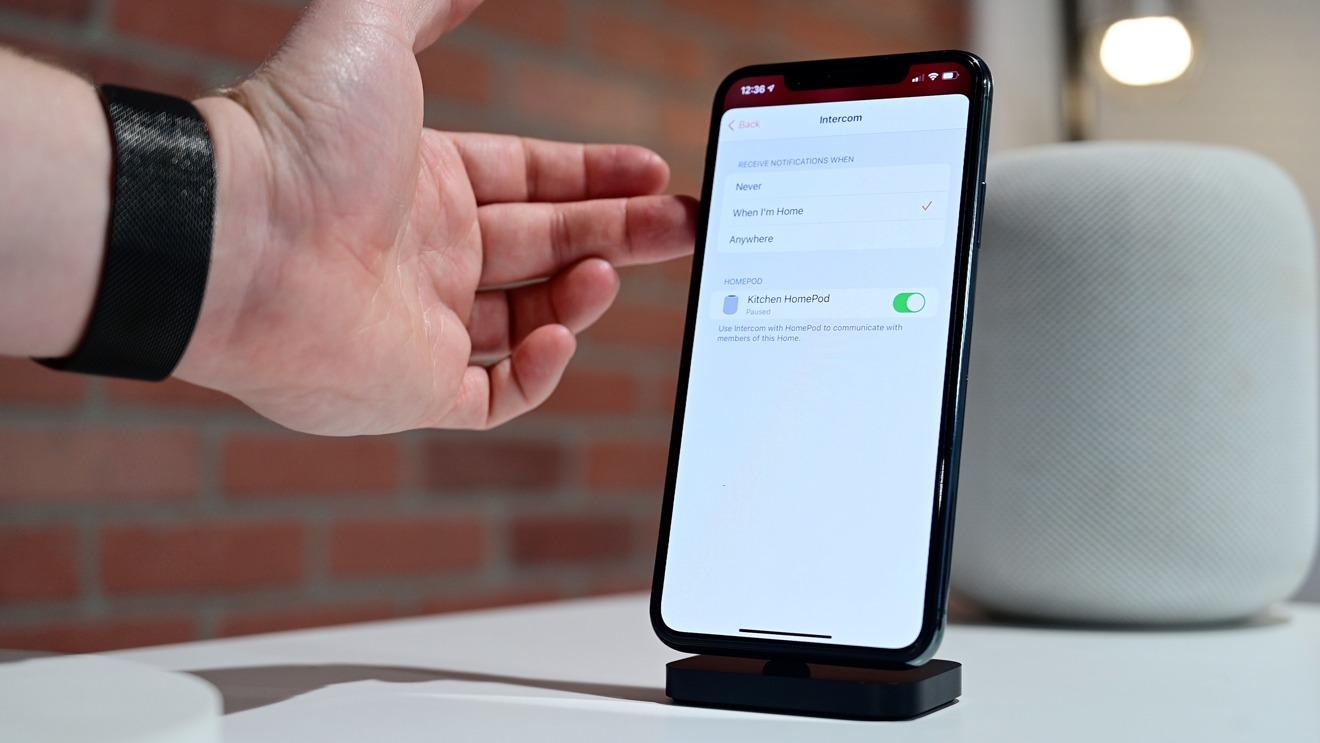 HomePod's Intercom settings