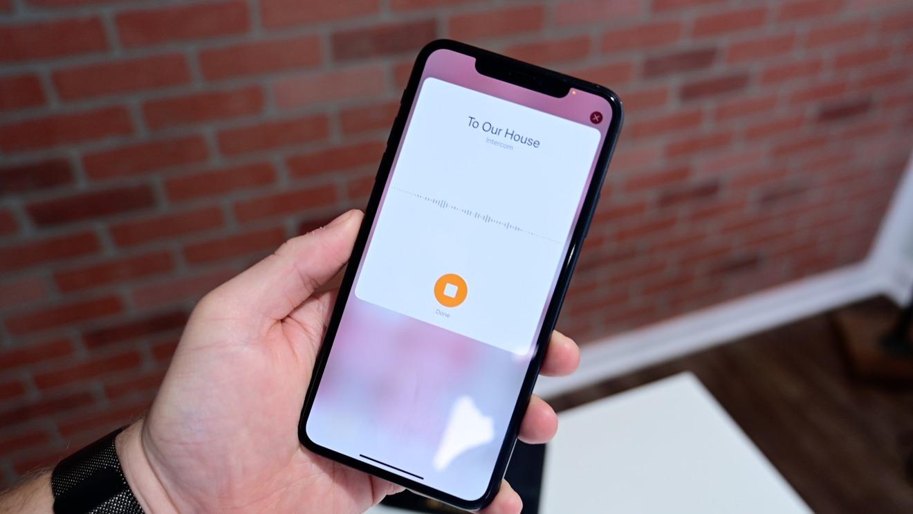 Sending an Intercom message from the Home app