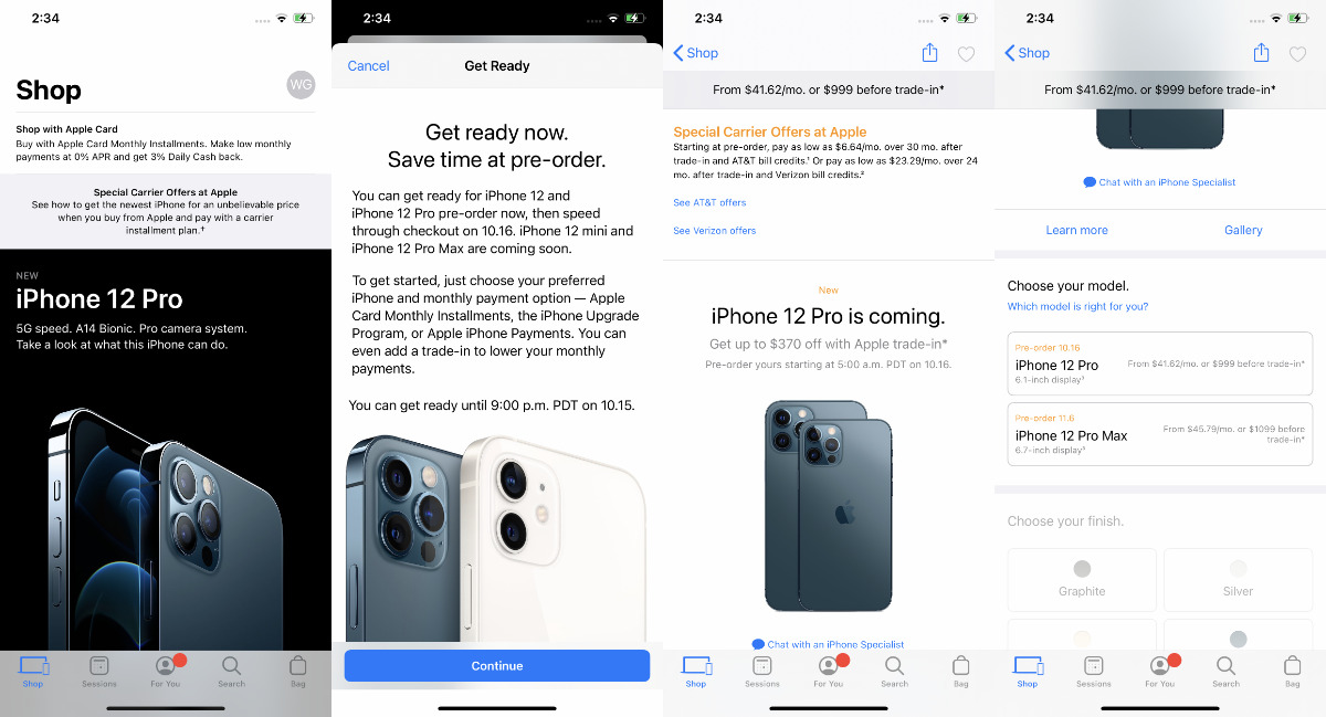 Whether you're joining for the first time or are already a member, you start by choosing your new iPhone