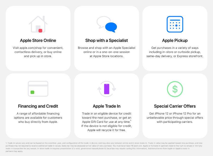 Apple Stores offer new options when buying devices. (Source: Apple)