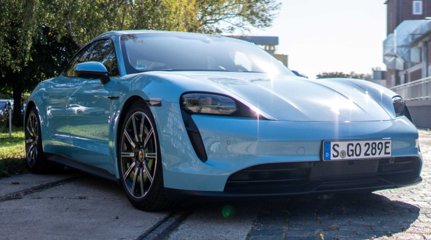 photo of Porsche Taycan car gains podcasts and Apple Music time-synced lyrics image