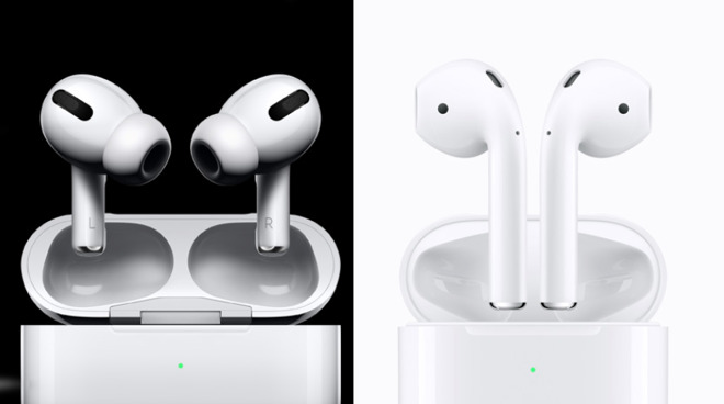 Distortion can affect both AirPods Pro (left) and regular AirPods (right)