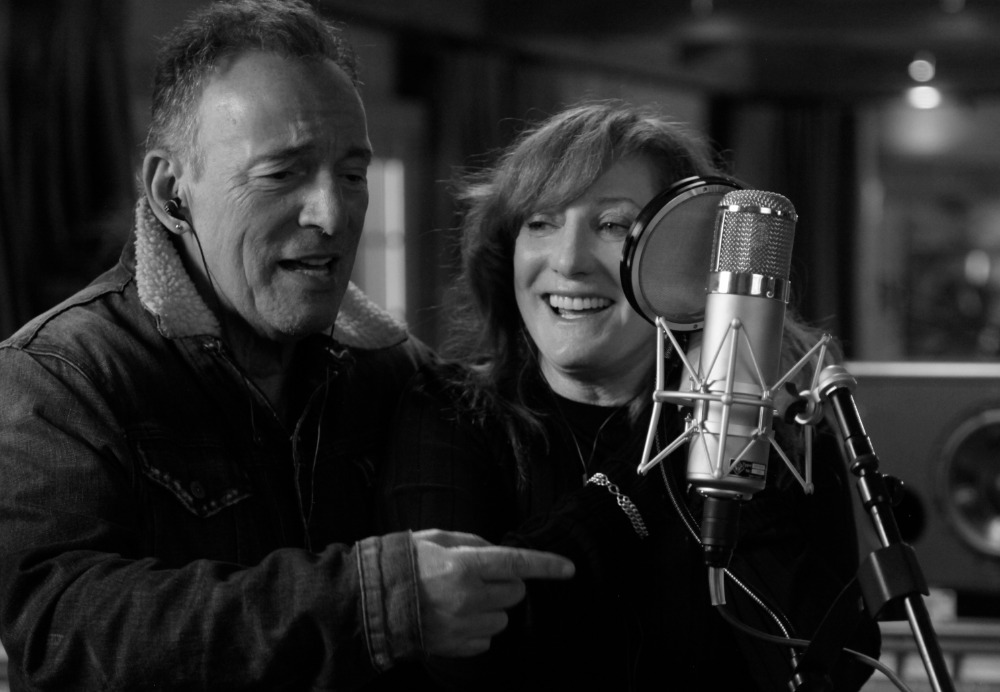 Bruce Springsteen and Patti Scialfa in