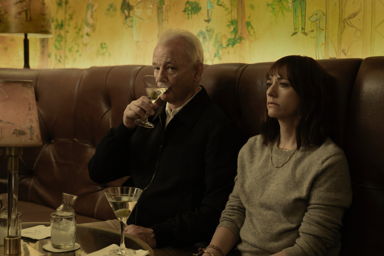 Bill Murray and Rashida Jones in