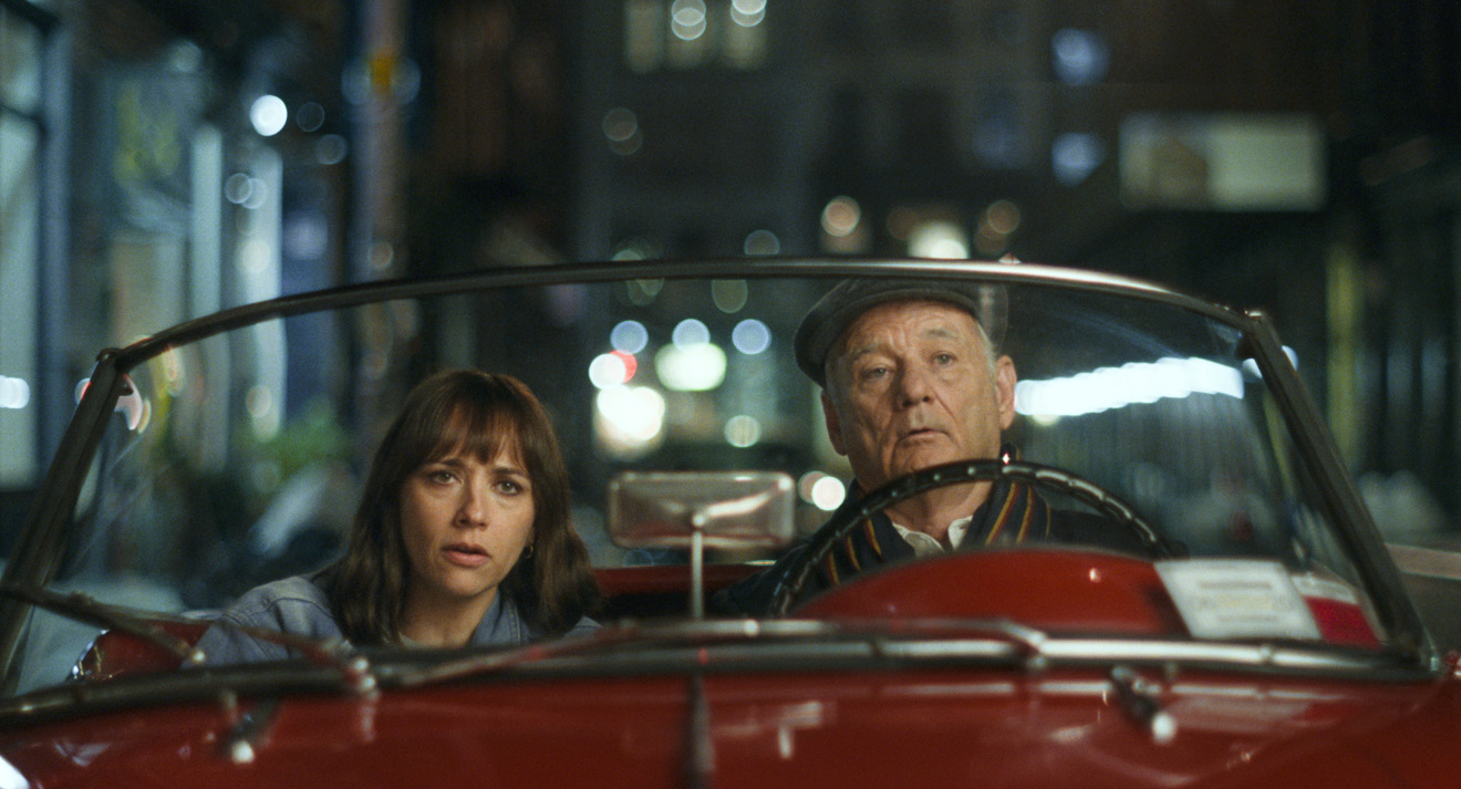 Rashida Jones and Bill Murray in