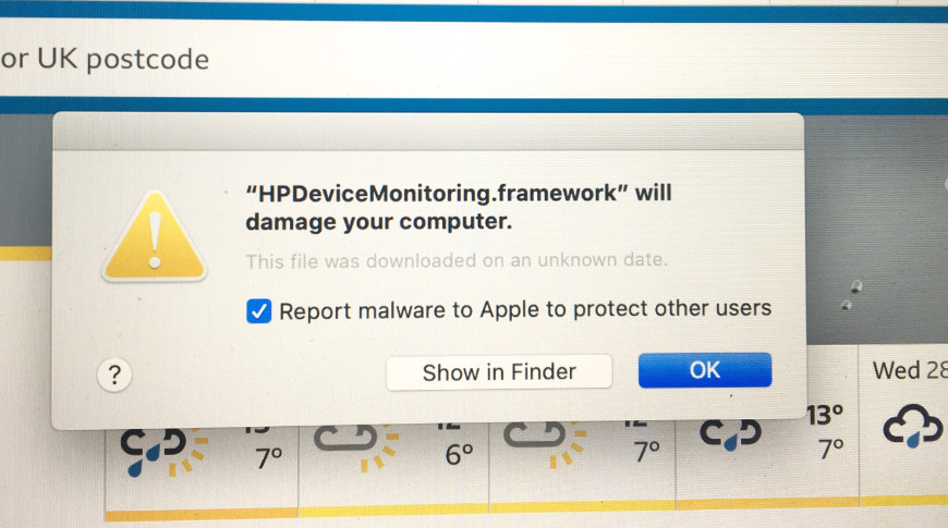 How to remove HP printer driver 'malware' from Mac
