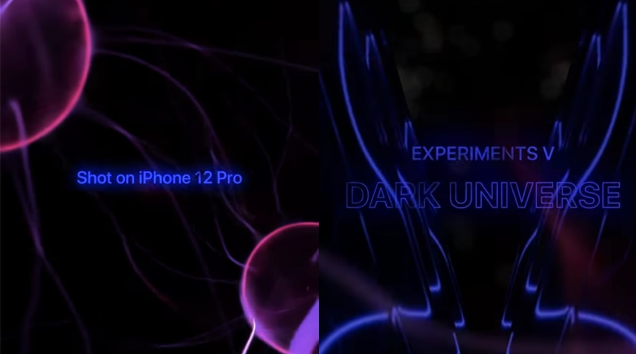 Fifth 'Experiments' video uses iPhone 12 Pro camera to show 'Dark Universe'
