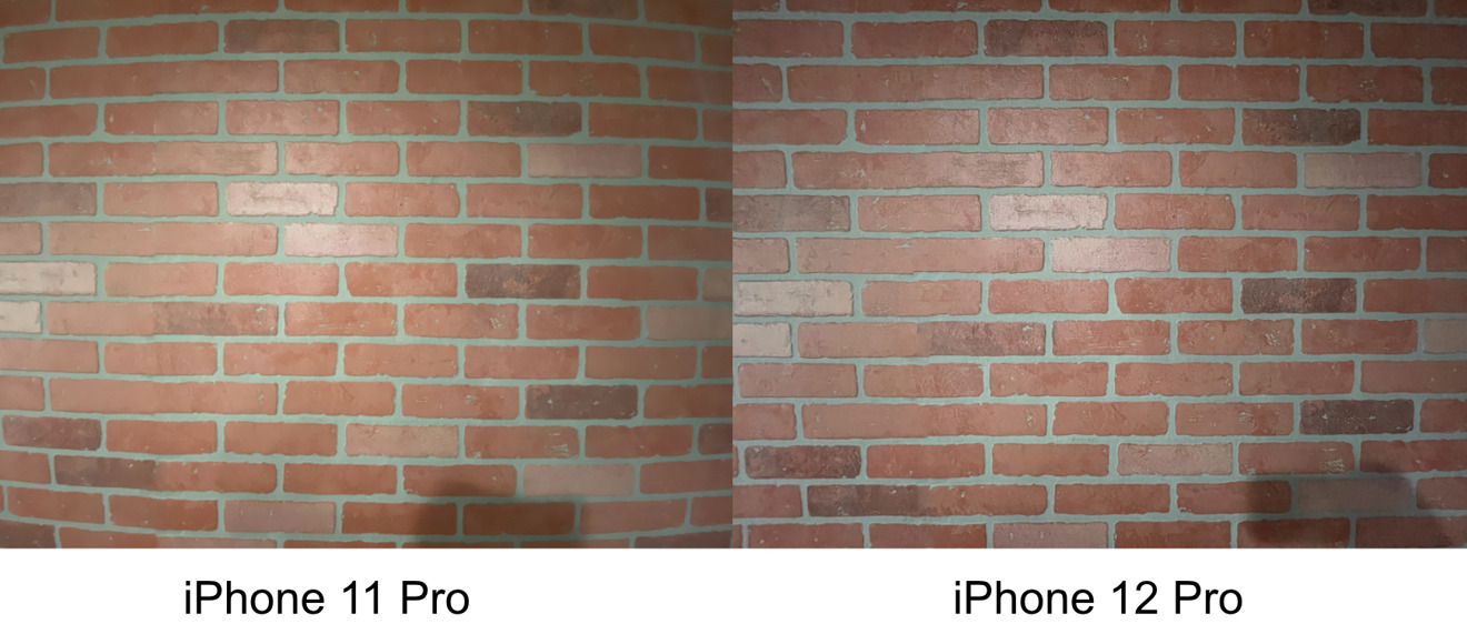 Ultra-wide lens correction on iPhone 12 Pro