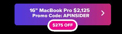 16 inch MacBook Pro promo code