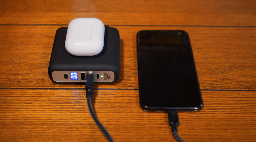 Charging AirPods and iPhone with the P3