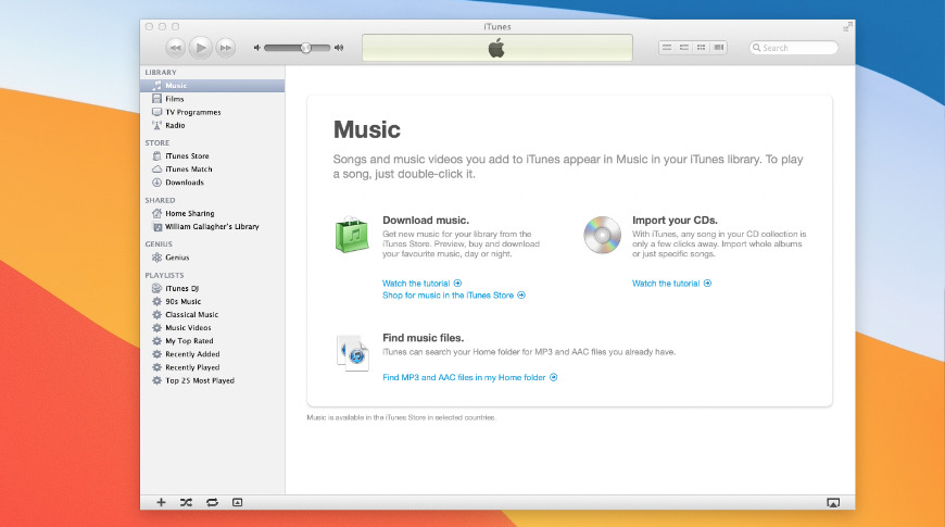 That's iTunes version 10.7 running on macOS Big Sur